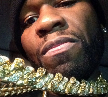 """50Cent captioned """"I'm so chunky right now. Try 2 kilo's 172 carrots natural Diamonds"""""""