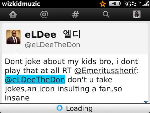 eLDee insulted a fan on Twitter