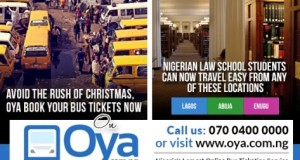 You can book and plan your Christmas trip with  Oya.com.ng