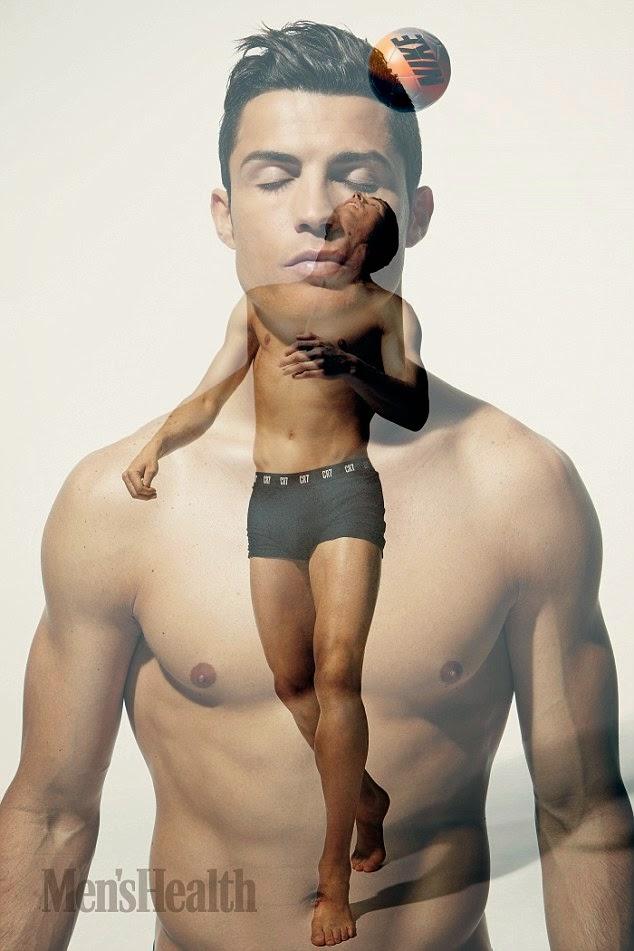 Cristiano Ronaldo Shows Off His Body As he strips for Men's Health Magazine