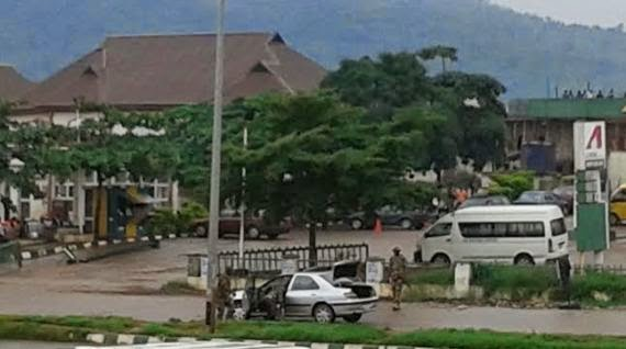 Photo of car that caused panic in Abuja today + no bomb dictated