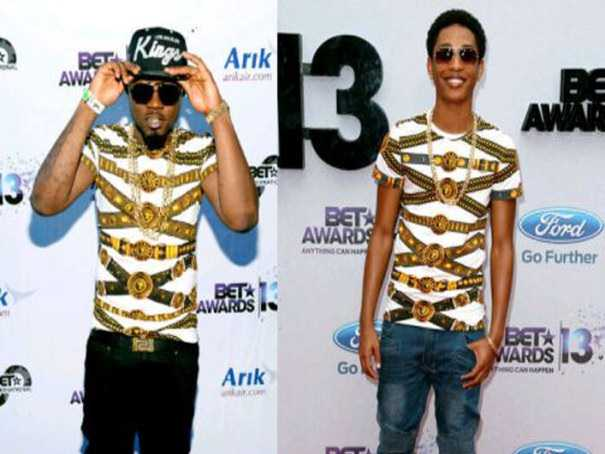 OMG! Ice Prince Spotted Wearing Fake Versace T-shirt?