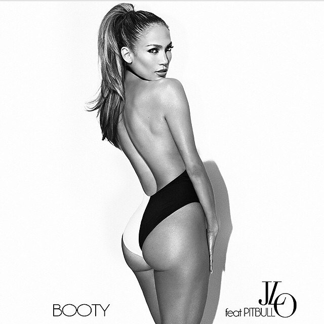 "Jennifer Lopez Flaunts Her Selling Point on Display in ""Booty"" Single Cover"