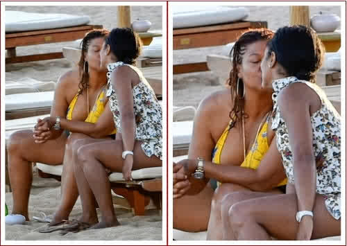 Rapper Queen Latifah Caught In The Act Of Lesbianism