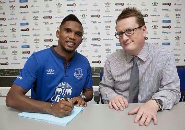 Eto'o Joins Everton, Retires From International Duty