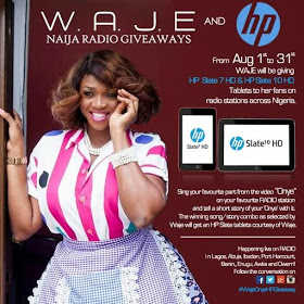 Waje & HP partner to giveaway gadgets to fans across Nigeria