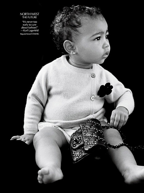 Kanye & Kim's Daughter, North West Modelling Debut
