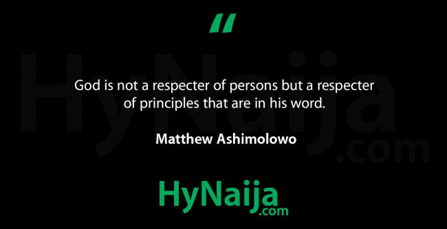 Matthew Ashimolowo quotes