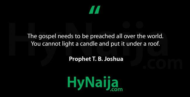 TB Joshua quote