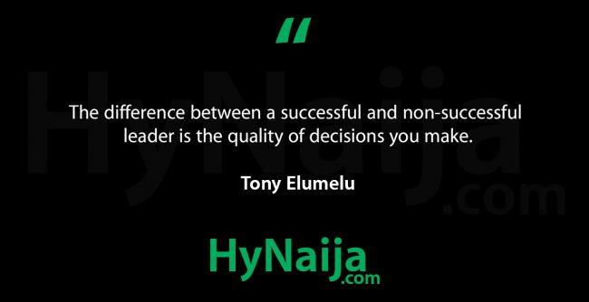 Tony Elumelu Biography & Net Worth
