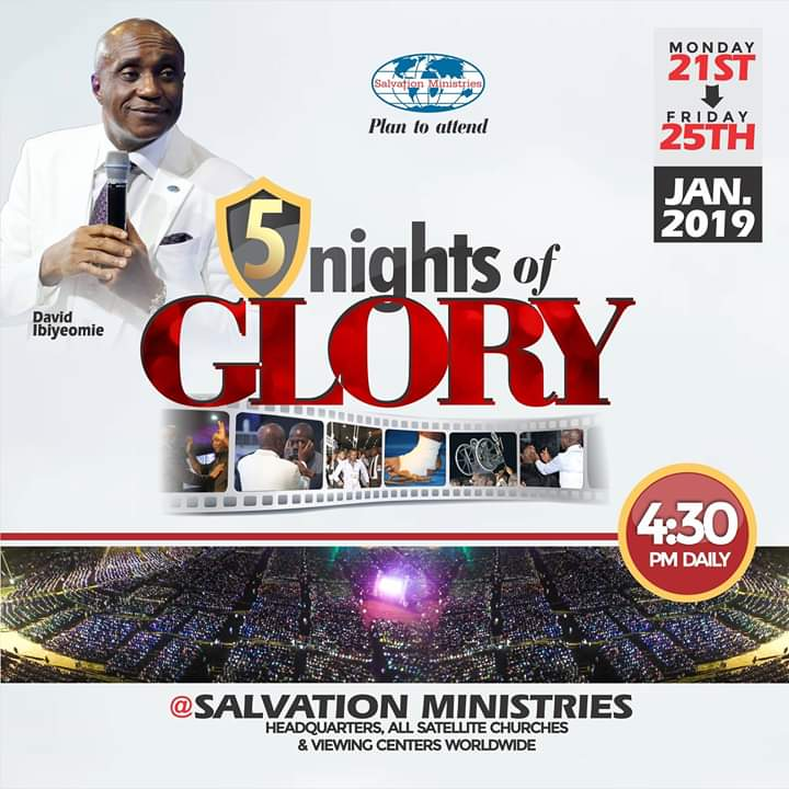 Braze Up! For Salvation Ministries – 5 Night Of Glory 2019