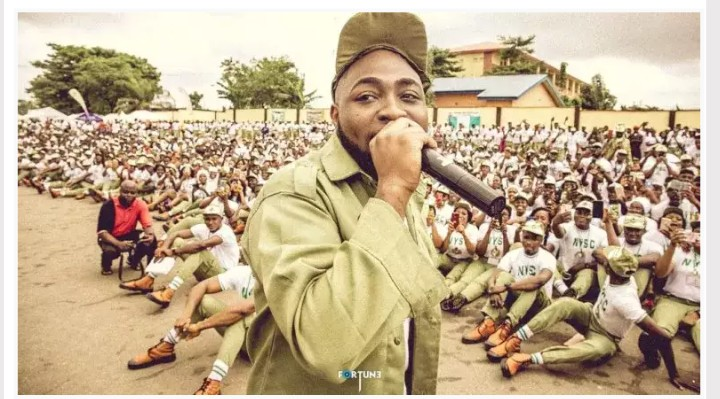 NYSC Cancels Davido's Service Year