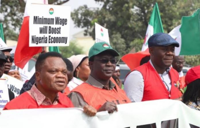 NLC protests over minimum wage (Pictures)