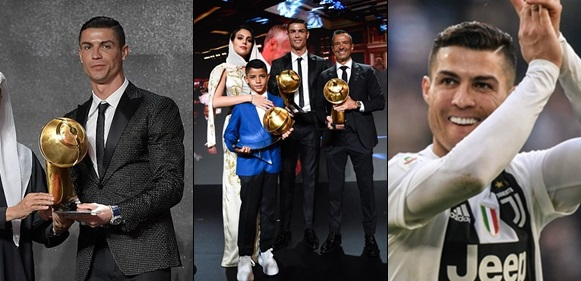 Cristiano Ronaldo named Player of the Year at the Globe Soccer Awards