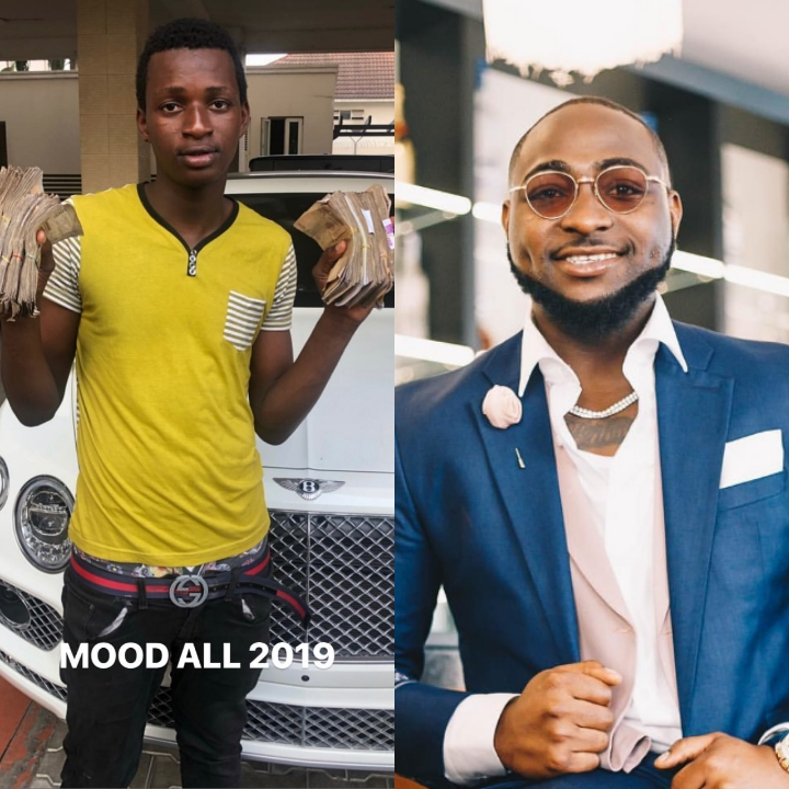 Davido Reacts As Boy He gifted 1m Buys Keke Napep For Transport Business (Photo)