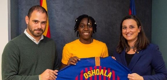 Asisat Oshoala joins FC Barcelona on Loan