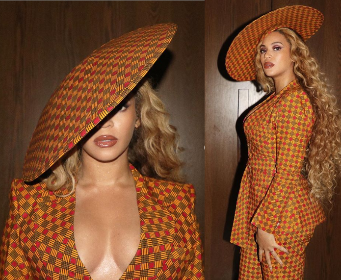 Beyonce Dresses Gorgeously In Ankara Suit As She Attends Exhibition Opening