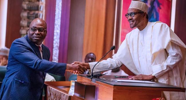President Buhari Swears In Bolaji Owasanoye As New ICPC Chairman