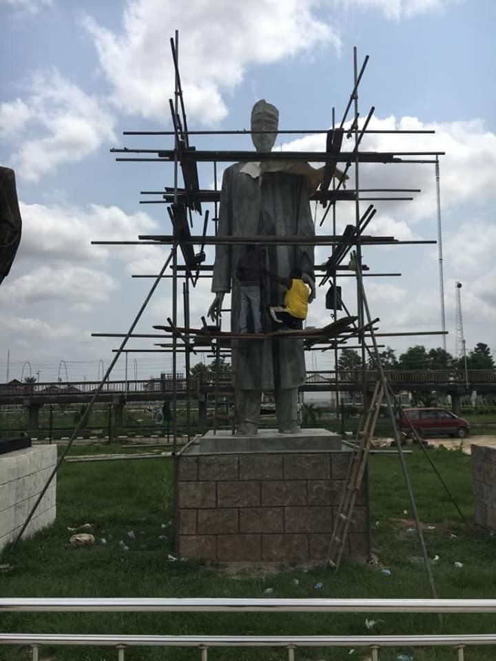 BBC Mocks Gov. Okorocha As He Erects Buhari-Like Statue
