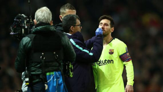 Messi To Miss Clash With Huesca This Weekend After Clash With Smalling