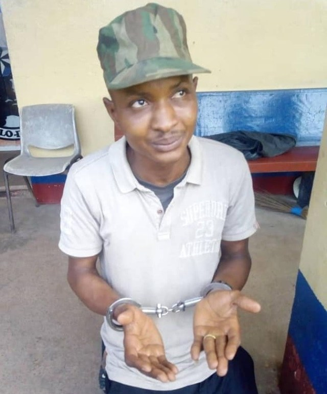Fake Soldier Arrested For Molesting Baba Fryo