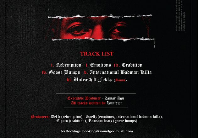 Tradition: Runtown releases date for EP