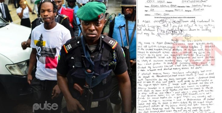 FOR THE RECORD: What Naira Marley Wrote In His Statement At EFCC Custody