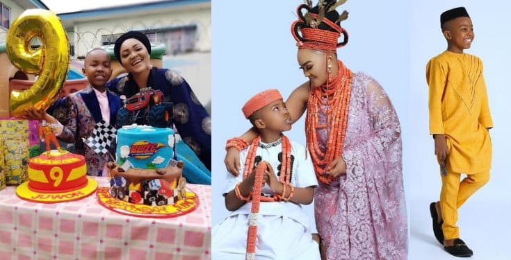 I love you my young King Olajuwon – Mercy Aigbe says as she celebrates son's birthday