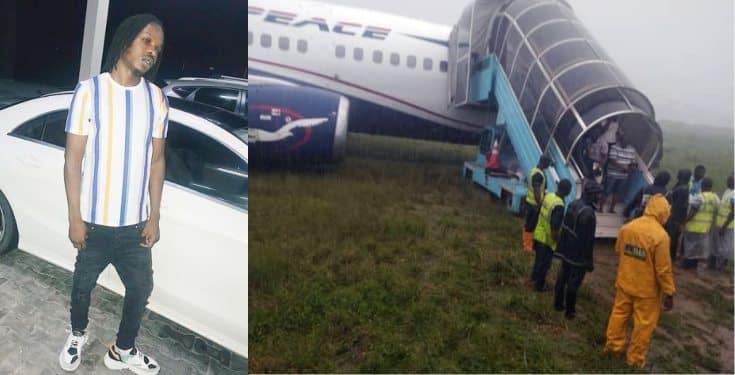 Air Peace: See what Naira Marley said about plane mishap