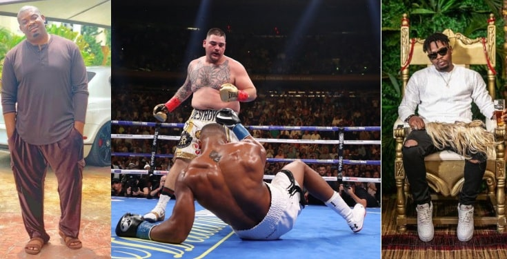 How Nigerian Celebrities Console Anthony Joshua After Defeat
