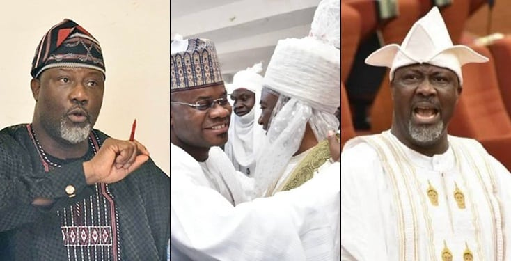 Kogi Election Drama Begins As Dino Melaye Knocks Gov. Yahaya Bello For 'Hugging' Traditional Ruler