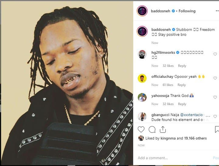 Olamide reacts as Naira Marley regains freedom
